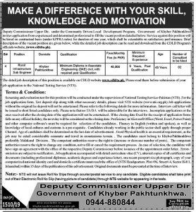 Deputy Commissioner Upper Dir NTS jobs 2019 Application form Eligibility Criteria