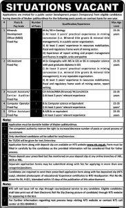 KPK Public Sector Development Project Jobs 2019 NTS Application Form Online