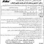 Faisalabad Development Authority FDA NTS Jobs 2020 Application Form