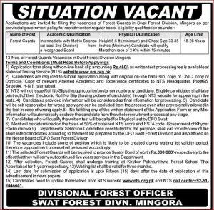 Swat Forest Division Mingora NTS Jobs 2019 Test Preparation online