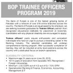 Bank of Punjab BOP NTS Trainee Officers 2020 Application Form Roll No Slip