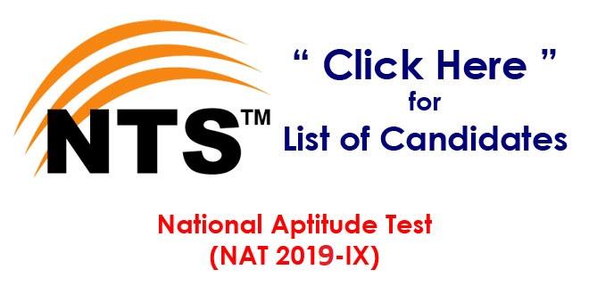 National Aptitude Test NAT 2019-IX Roll No Slip Download Online