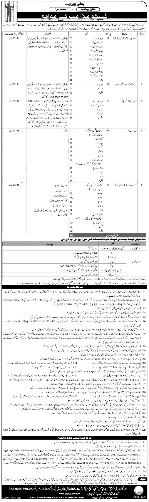 Gujranwala Electric Power Company NTS Jobs 2019 Application Form Roll No Slip Download