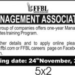 FFBL Management Associates Program 2020 NTS Test Roll No Slip