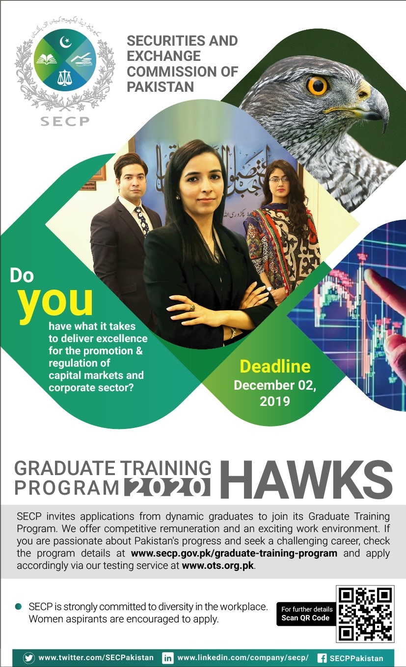 Graduate Training Program SECP 2019 OTS Application Form Roll No Slip