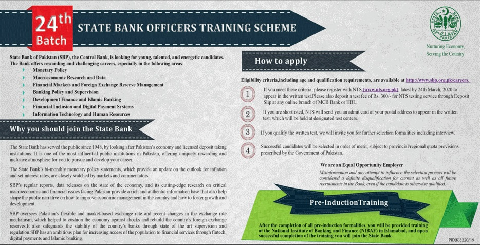 State Bank of Pakistan SBP Jobs 2020 NTS Application Form