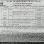 Mark Grammar School Khanewal NTS Jobs 2020 Application Form