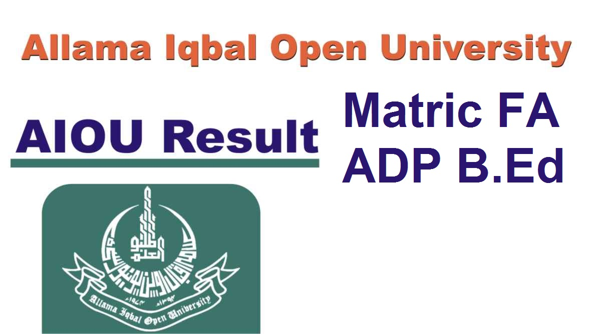 AIOU Result by Roll Number 2021 Matric FA ADP B.Ed MA MSc