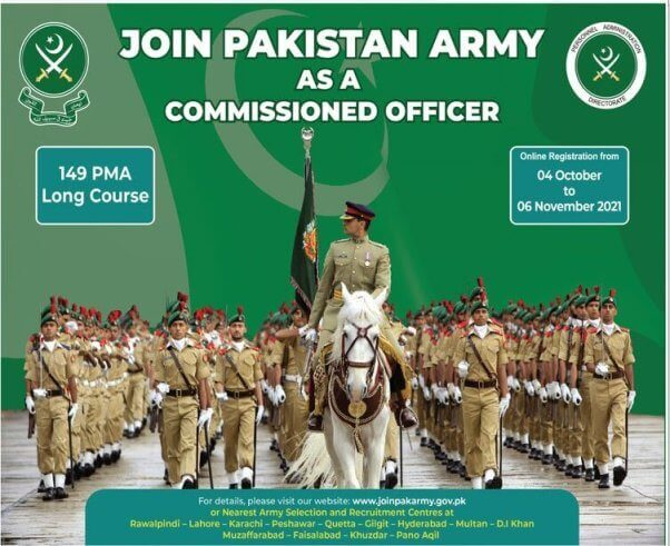 Join Pak Army as PMA Long Course 149 2021 Online Registration