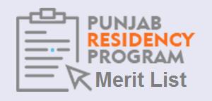 PRP Merit List 2021 JCAT CIP FCPS Punjab Residency Program